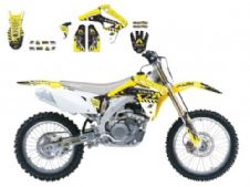 New Suzuki RMZ 450 05 06 07 ARMA ENERGY SERIES GRAPHIC KIT Blackbird 2315F